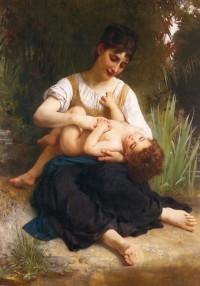 Bouguereau - Adolphe Juene Fille Et Enfant (1878)