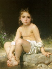 Bouguereau - Child At Bath (1886)