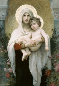 Bouguereau - The Madonna Of The Roses ((1903)