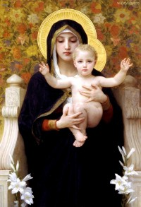 Bouguereau - The Virgin Of The Lilies (1899)