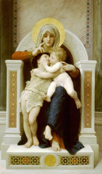 Bouguereau - The Virgin, The Baby Jesus And Saint John The Baptist (1875)