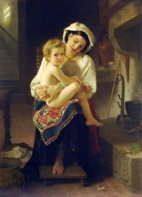 Bouguereau - Up You Go (1871)