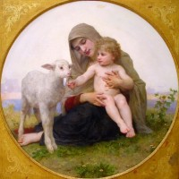 Bouguereau - Virgin And Lamb (1903)