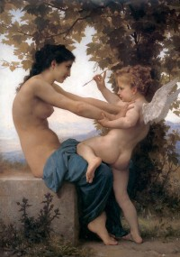 Bouguereau - Young Girl Defending Herself Against Cupid (1880)