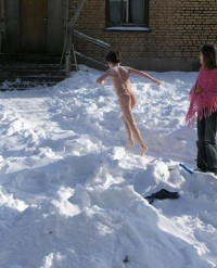 Winter Nudist Family-17