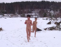 Winter Nudist Family-23