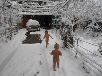 Winter Nudist Family-39