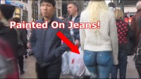 Girl Walks Around NYC With No Pants! (video)