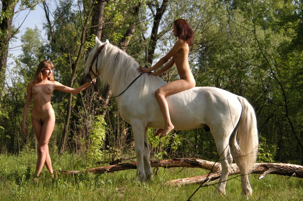 Nude Girls On Horseback