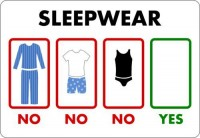 no sleepwear